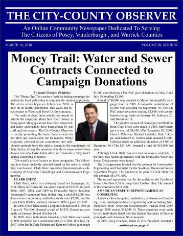Money Trail: Water and Sewer Contracts Connected to Campaign ...