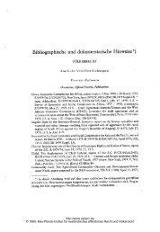 Bibliographische und dokumentarische Hinweise*) - Zeitschrift für ...