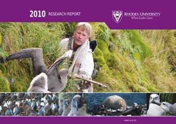 Annual Research Report 2010 - Rhodes University