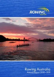 Annual Report 2010–2011 - Rowing Australia