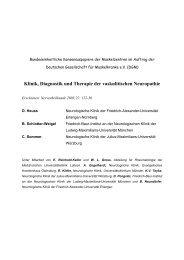 Klinik, Diagnostik und Therapie der vaskulitischen Neuropathie