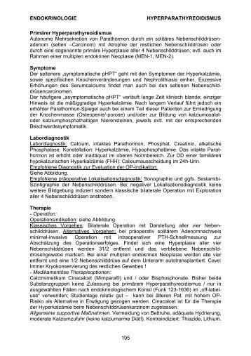 ENDOKRINOLOGIE HYPERPARATHYREOIDISMUS 195 Primärer ...