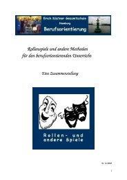 Rollen- und andere Spiele für die Berufsorientierung - Beschreibung ...