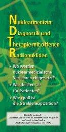 Nuklearmedizin: Diagnostik und Therapie mit offenen Radionukliden