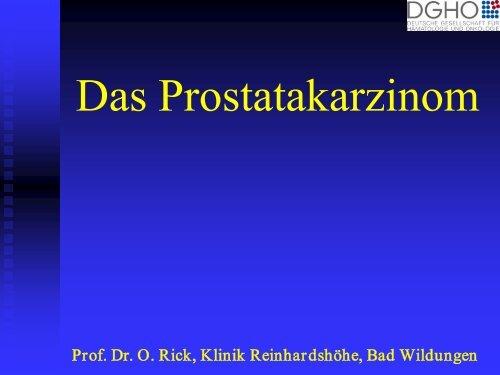 Sozialmedizinische Beurteilung bei Prostatakarzinomen - DGHO