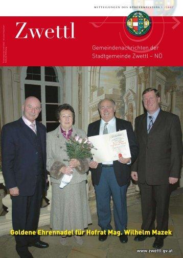 Gemeindenachrichten 1/2007 (3,56 MB) - Zwettl