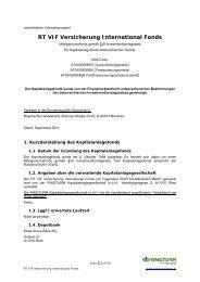 RT VIF Versicherung International Fonds - Ringturm ...