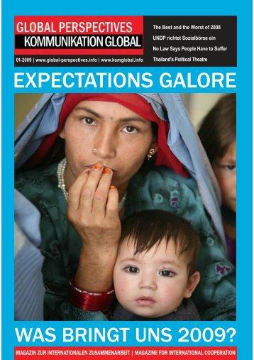 GLOBAL PERSPECTIVES | KOMMUNIKATION GLOBAL - 01 | 2009