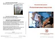 Patienten-infotainment-System - Orthopädisches Spital Speising