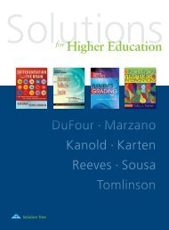 for Higher Education DuFour Marzano Kanold Karten ... - Solution Tree