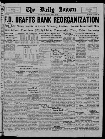 March 14 - The Daily Iowan Historic Newspapers - University of Iowa
