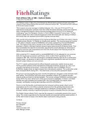 Fitch Affirms OHL at 'BB-', Outlook Stable 17052012 - Fitch Ratings ...
