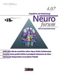 Neuroforum 4/07 - Neurowissenschaftliche Gesellschaft eV - MDC