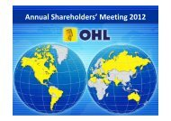 Annual Shareholders' Meeting 2012 - Ohl
