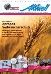 GERSTEL Aktuell Nr. 46 (pdf; 5,28 MB - Gerstel GmbH & Co.KG