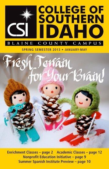 Complete Spring 2013 Program Brochure - CSI Off-Campus Centers ...