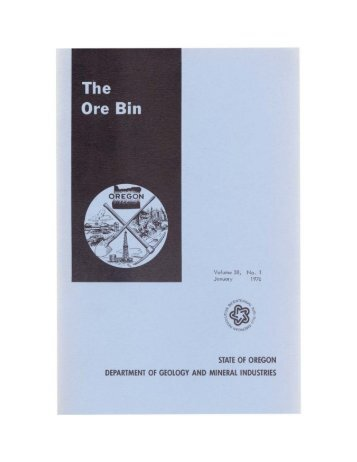 The Ore Bin - Oregon Department of Geology and Mineral Industries