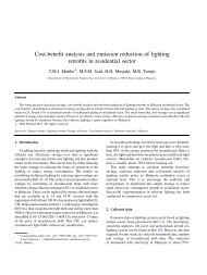 Cost-benefit analysis and emission reduction of lighting retrofits in ...