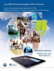 Tues Conference Program-2013-wo workshop info ... - CCLI/TUES