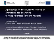 Application of the Burrows-Wheeler Transform for Searching ... - abren