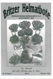 burgerverein berlin britz ev gegründet 1890 - Bürgerverein Berlin ...