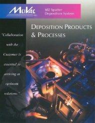 Deposition Products & Processes - MeiVac, Inc.