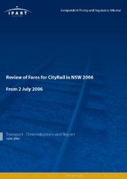 IPART Review of CityRail Fares in NSW 2006 - Transport for NSW ...
