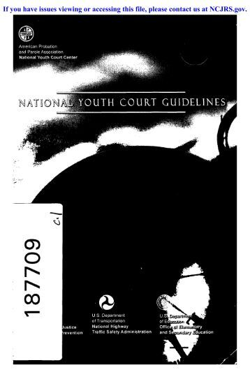 uth court guidelines - National Criminal Justice Reference Service