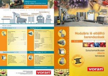 Moduláris lé előállító berendezések - voran Maschinen GmbH