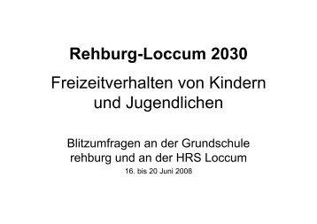 Rehburg-Loccum 2030 Freizeitverhalten von Kindern und ...