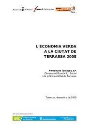 l'economia verda a la ciutat de terrassa 2008 - Ajuntament de Terrassa