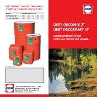 Sonderkraftstoffe - Georg Oest Mineralölwerk GmbH & Co. KG