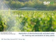 Hypochlorous acid - FIL IDF Summilk - IDF World Dairy Summit 2011