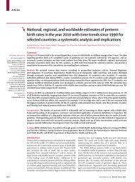 National, regional, and worldwide estimates of preterm birth rates in ...