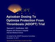 Apixaban Dosing To Optimize Protection From Thrombosis (ADOPT ...