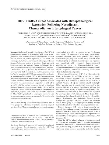 HIF-1 - Anticancer Research