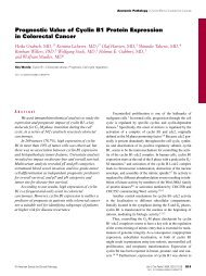 Prognostic Value of Cyclin B1 Protein Expression - American ...