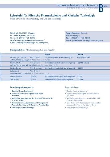 Lehrstuhl für Klinische Pharmakologie und Klinische Toxikologie