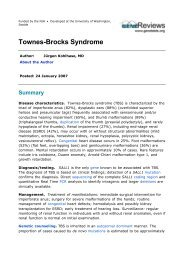 Townes-Brocks Syndrome
