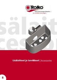 Lisälaitteet ja tarvikkeet | Accessories - Tradotim Oy