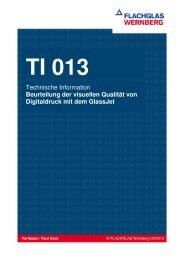 TI 013 Visuelle Qualität von Digitaldruck mit dem - FLACHGLAS ...