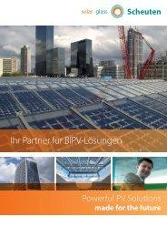 Ihr Partner für BIPV-Lösungen - Scheuten