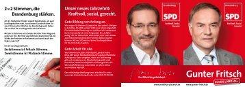 Kandidatenflyer - SPD-Landesverband Brandenburg