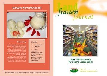 Ausgabe 1/2012 (PDF Datei) - Brandenburger Landfrauenverband eV