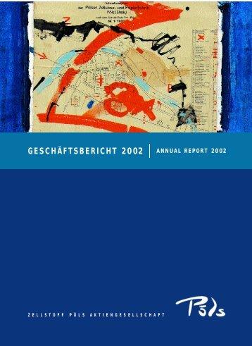 UND VERLUSTRECHNUNG 2002 - Zellstoff Pöls AG