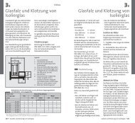 Glasfalz und Klotzung von Isolierglas Glasfalz und ... - glassolutions