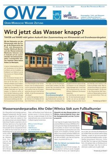 12. jahrgang nr. 1 / juni 2007 - Trink- und Abwasserverband ...