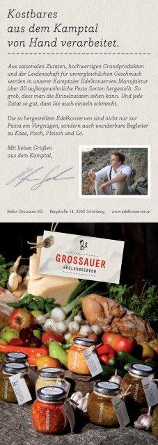 Sortiment und Rezepte - Grossauer Edelkonserven