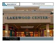 Lakewood Center Technical Criteria Manual - Macerich