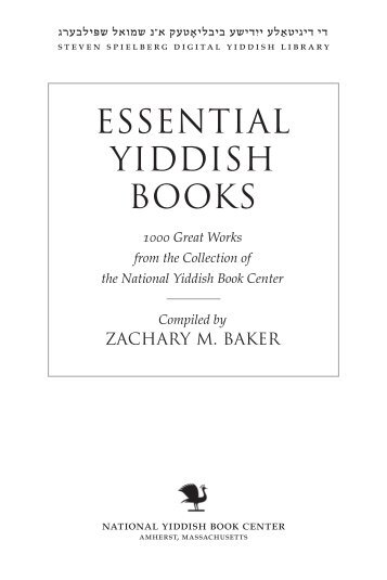 1000 Essential Yiddish Books - Yiddish Book Center